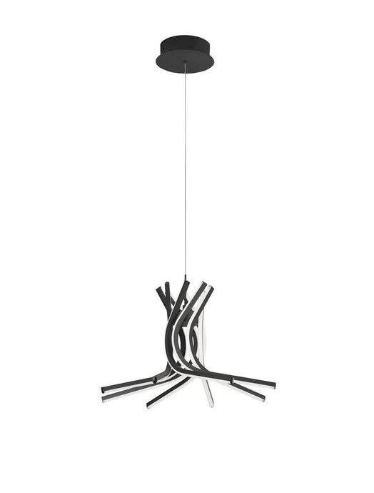NOR Sandy Black Aluminium & Acrylic Tangle Pendant Medium - ID 10194
