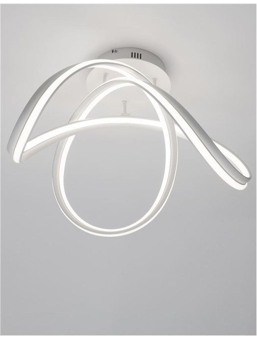 TRU Dimmable Sandy White Aluminium & Acrylic Knot Ceiling Light - ID 10362