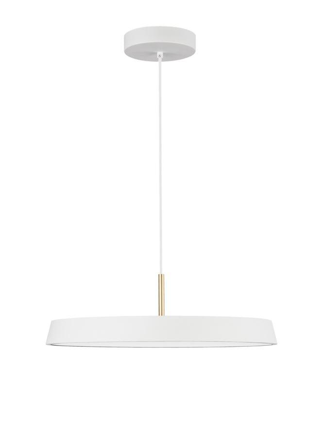 VET Matt White Aluminium & Acrylic Single Pendant - ID 9994