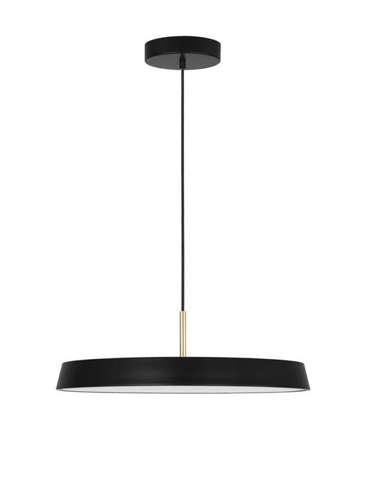 VET Matt Black Aluminium & Acrylic Single Pendant - ID 9995