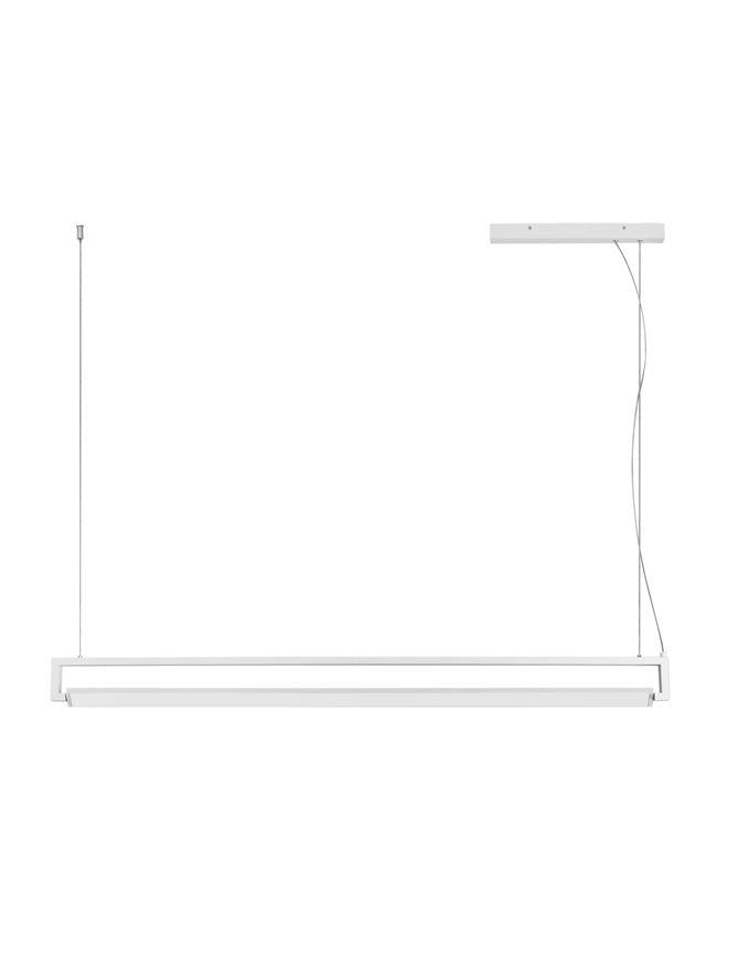 LIN Sandy White Aluminium & Acrylic Rotating Linear Bar Pendant - ID 10357
