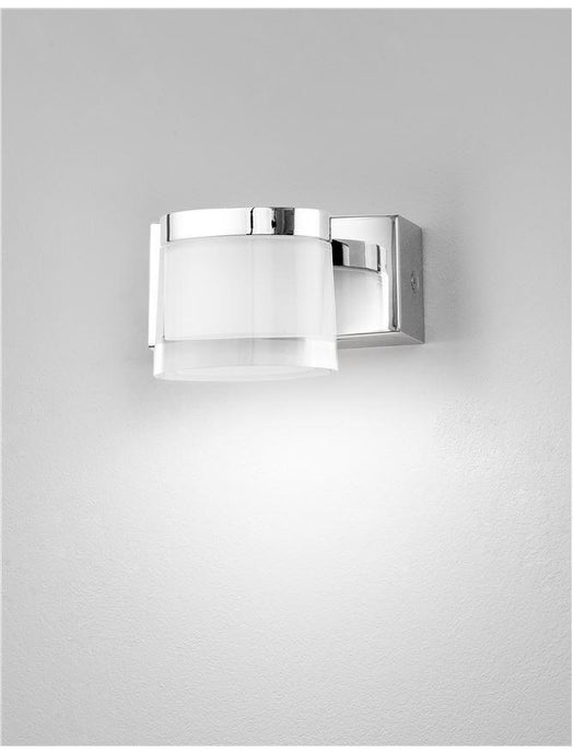 SAB Chrome Aluminium & Acrylic Single Bathroom Wall Light - ID 10911