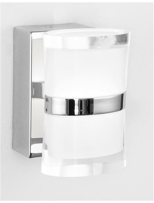 SAB Chrome Aluminium & Acrylic Up / Down Bathroom Wall Light - ID 10910