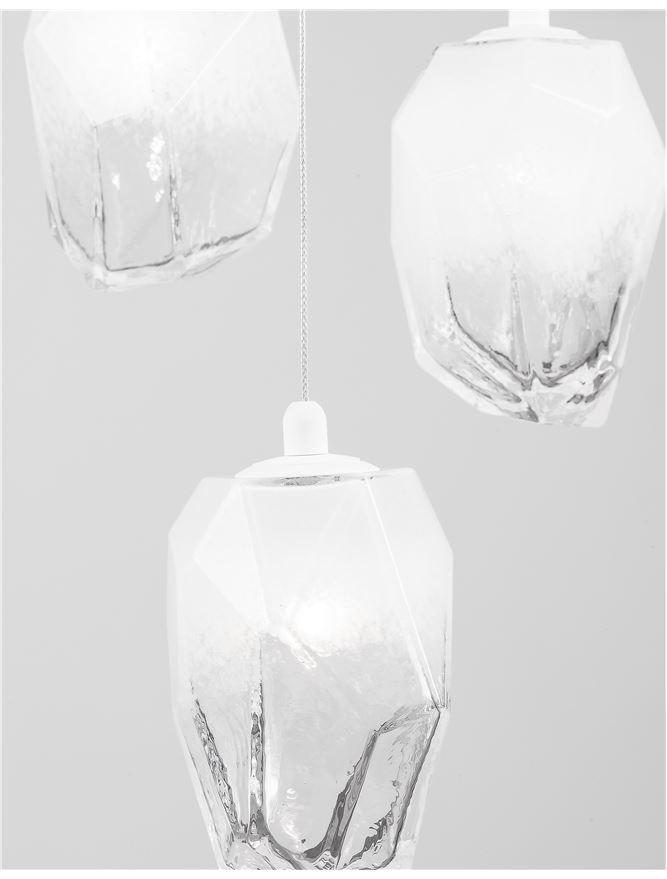 ICE Gradient Glass 3 Lamp Multiple Pendant Pendant - ID 10625
