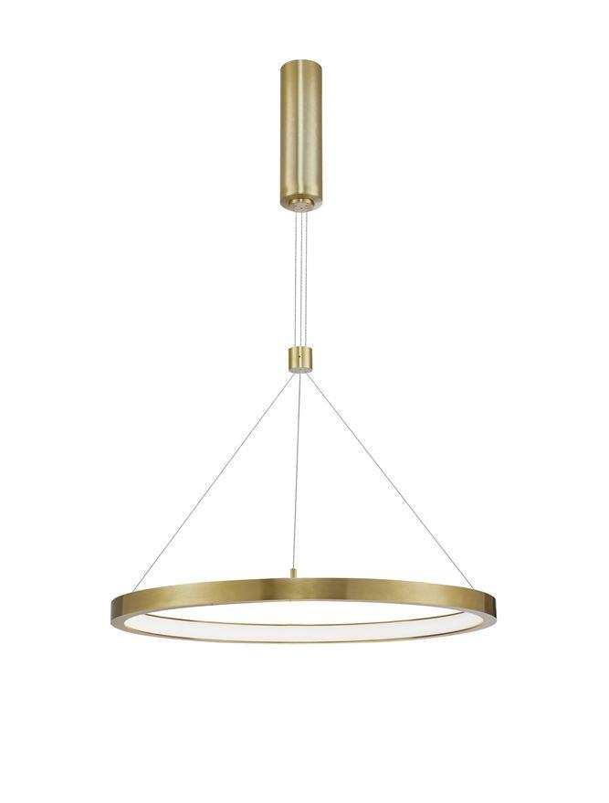 EMP Dimmable Brass Gold Aluminium & Acrylic Single Ring Pendant - ID 10195