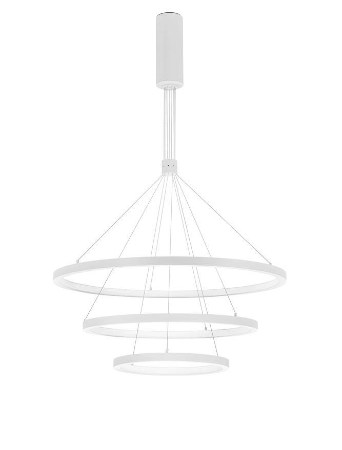 EMP Dimmable Sandy White Aluminium & Acrylic Tripple Ring Pendant - ID 10212