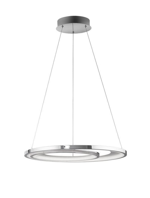 GAL Chrome Aluminium & Acrylic Dimmable Galactic Rings Pendant Small - ID 10473