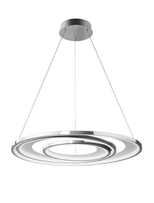 GAL Chrome Aluminium & Acrylic Dimmable Galactic Rings Pendant Large - ID 10474