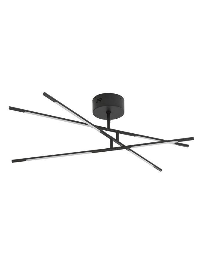 RAC Black Metal & Acrylic Tubular 6 Lamp Adjustable Ceiling Light - ID 10112