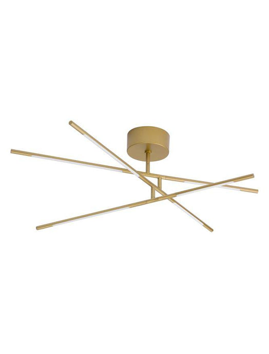 RAC Gold Metal & Acrylic Tubular 6 Lamp Adjustable Ceiling Light - ID 10103