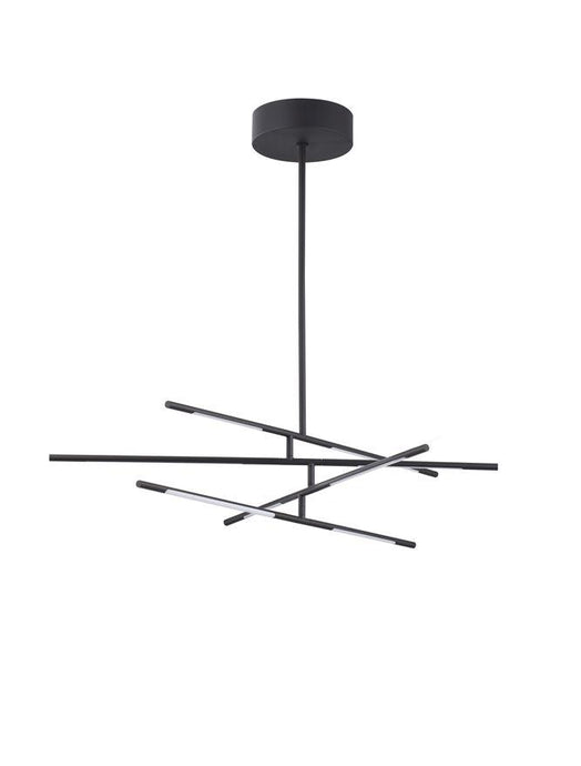 RAC Black Metal & Acrylic Tubular 8 Lamp Adjustable Ceiling Light - ID 10109