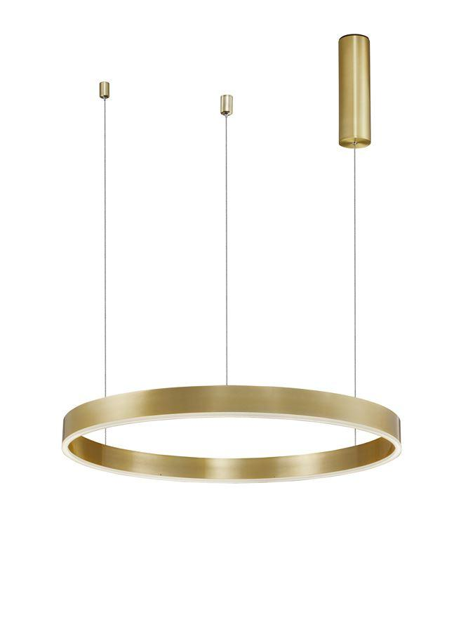 MOT Dimmable Brass Gold Aluminium & Acrylic Ring Pendant Small - ID 10201