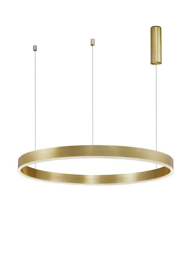 MOT Dimmable Brass Gold Aluminium & Acrylic Ring Pendant Large - ID 10203
