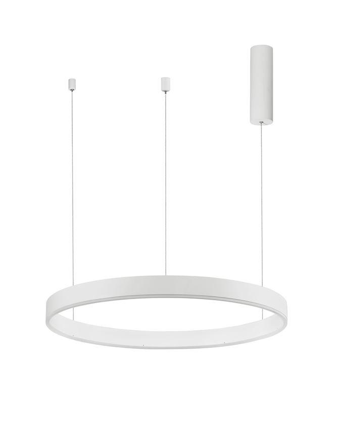 MOT Dimmable Sandy White Aluminium & Acrylic Ring Pendant Small - ID 10207