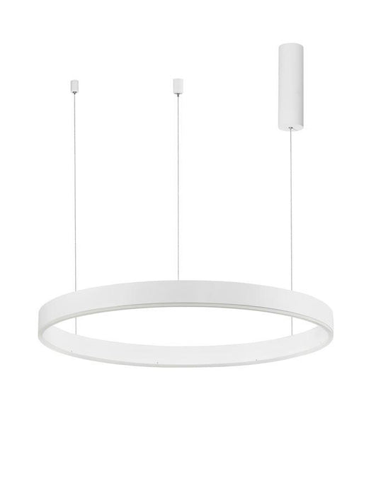 MOT Dimmable Sandy White Aluminium & Acrylic Ring Pendant Large - ID 10209