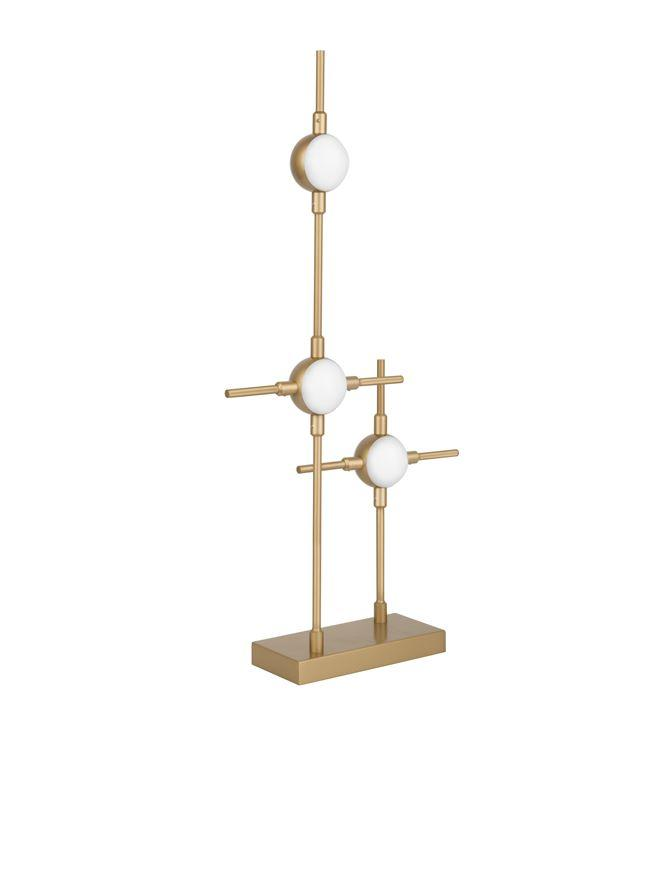 ATO Black & Gold Metal & Acrylic 3 Lamp Molecule Table Light - ID 10081