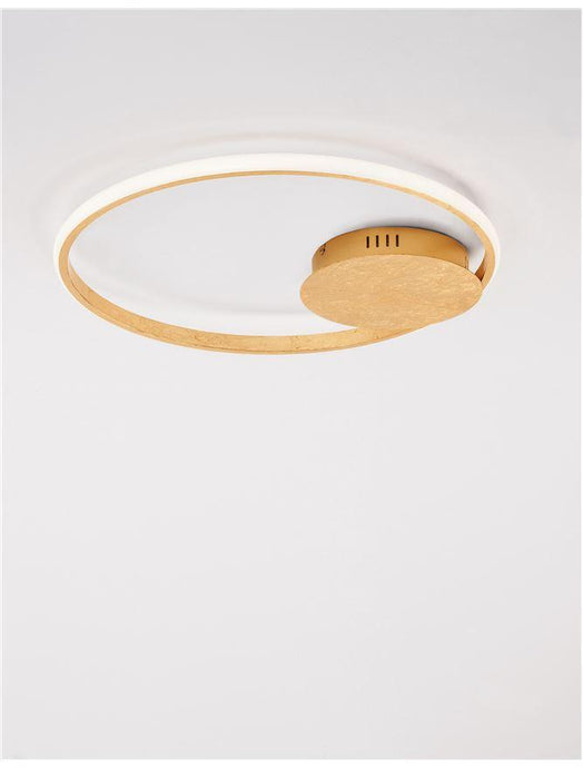 FUL Single Halo Dimmable Ceiling Light In Gold Leaf Aluminium & Acrylic - ID 10324