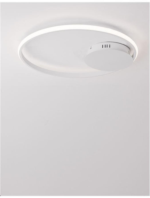 FUL Single Halo Dimmable Ceiling Light In Sandy White Aluminium & Acrylic - ID 10326