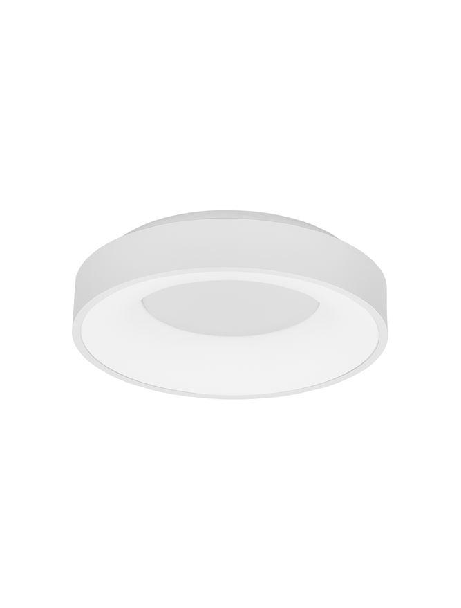 RAN Sandy White Aluminium & Acrylic Dimmable Warm Light Ring Flush Small - ID 10611