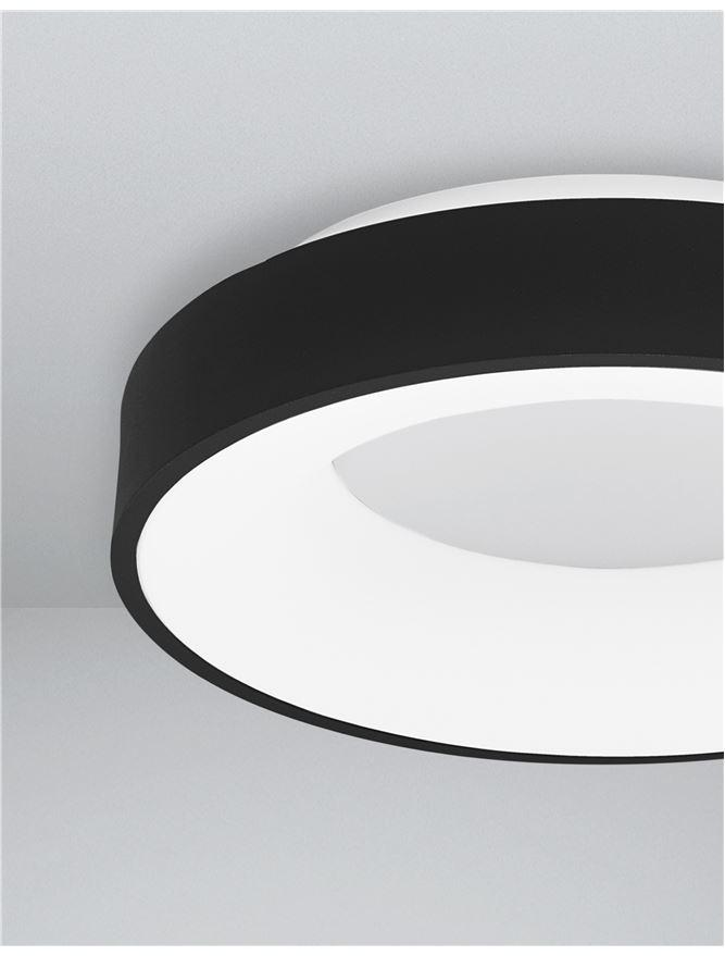 RAN Sandy Black Aluminium & Acrylic Dimmable Warm Light Ring Flush Small - ID 10612