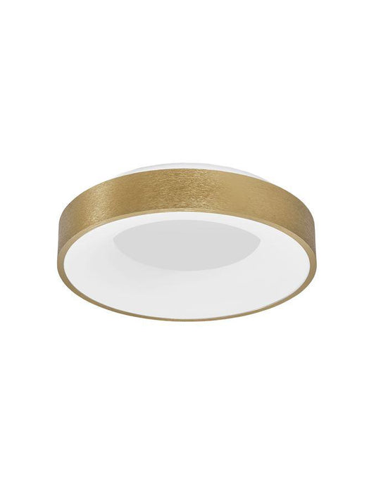 RAN Brushed Gold Aluminium & Acrylic Dimmable Warm Light Ring Flush Small - ID 10615