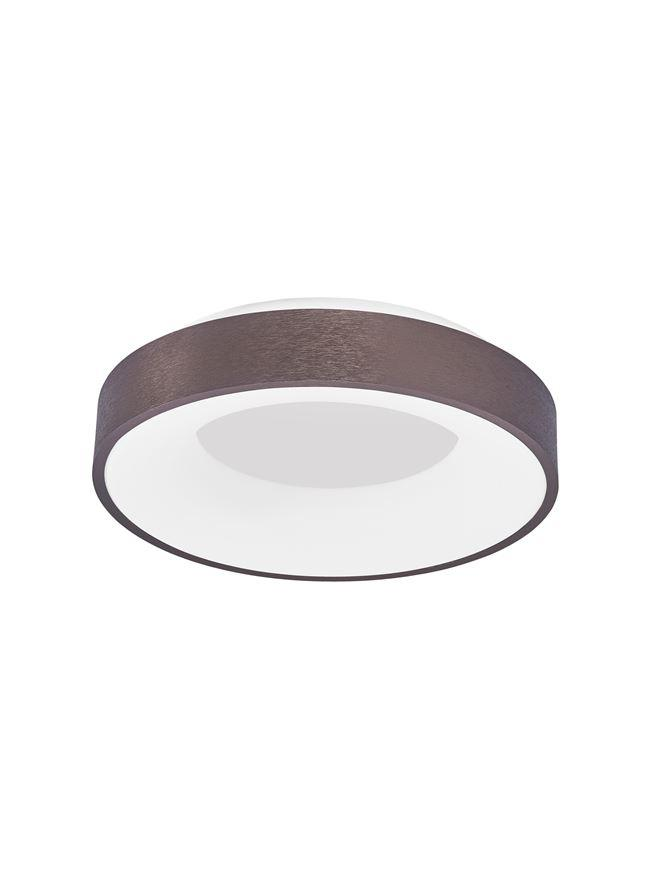 RAN Brushed Coffee Aluminium & Acrylic Dimmable Warm Light Ring Flush Small - ID 10614