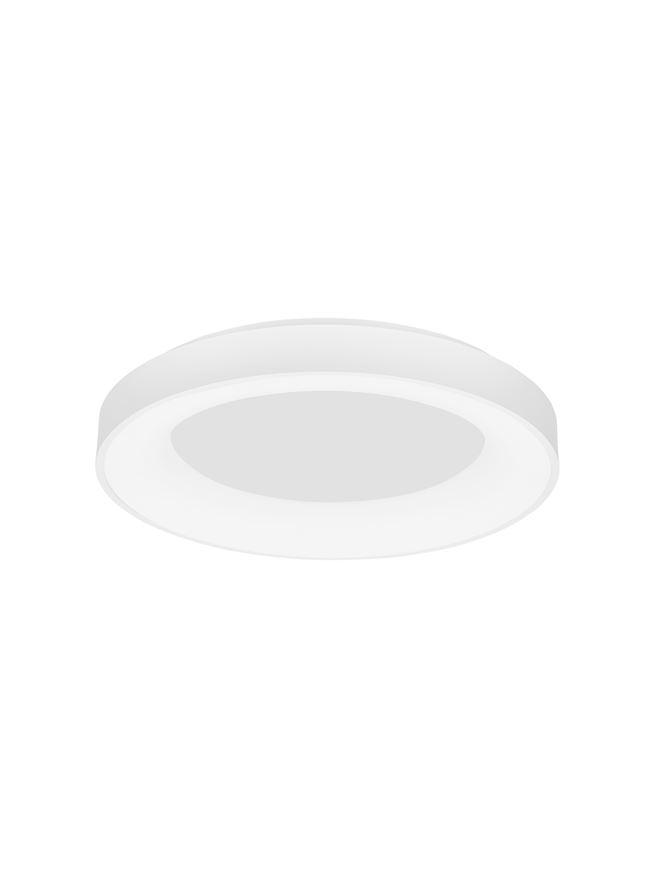 RAN Sandy White Aluminium & Acrylic Dimmable Warm Light Ring Flush Large - ID 10616