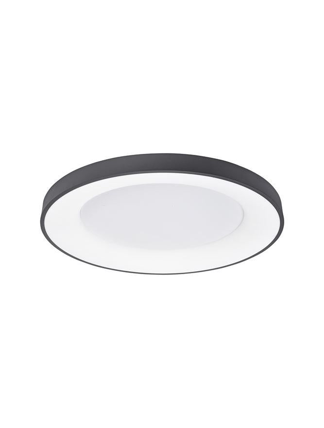 RAN Sandy Black Aluminium & Acrylic Dimmable Warm Light Ring Flush Large - ID 10617
