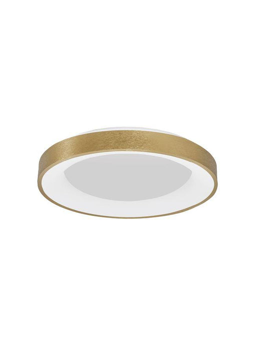 RAN Brushed Gold Aluminium & Acrylic Dimmable Warm Light Ring Flush Large - ID 10620