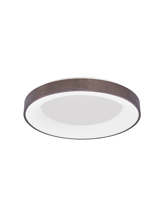RAN Brushed Coffee Aluminium & Acrylic Dimmable Warm Light Ring Flush Large - ID 10619