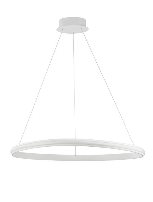 ARI Dimmable Sandy White Aluminium & Acrylic Single Ring Pendant - ID 10224