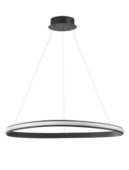 ARI Dimmable Sandy Black Aluminium & Acrylic Single Ring Pendant - ID 10225