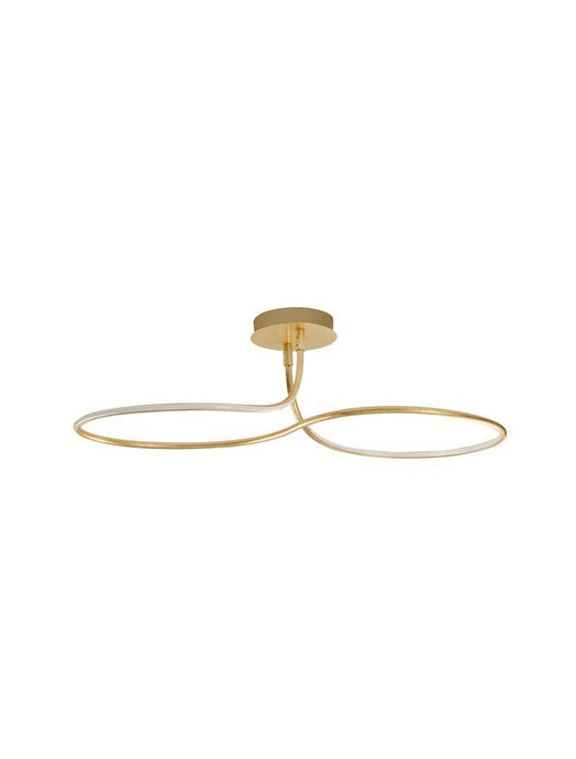 FUNG Gold Leaf Aluminium & Acrylic Large Ceiling Light - ID 10581