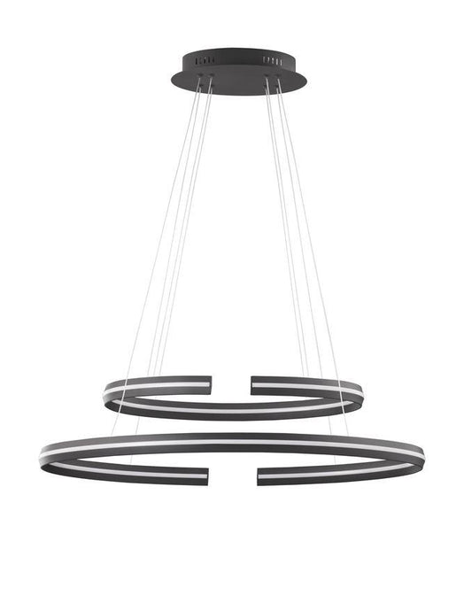 TOR Sandy Black Aluminium Split Loop Pendant Medium - ID 10189
