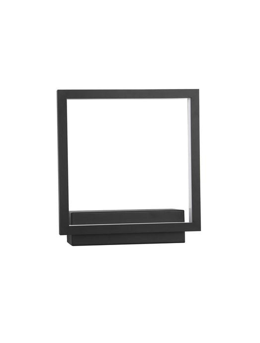 COR Sandy Black Aluminium & Acrylic Square Wall Light - ID 10044