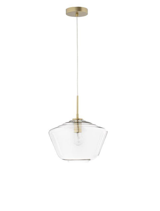 PRI Clear Glass & Gold Metal Single Pendant - ID 10000