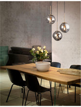 SPA Chrome Indented Glass & Gold Metal Single Multiple Pendant With Black PVC Coated Flex - ID 10022