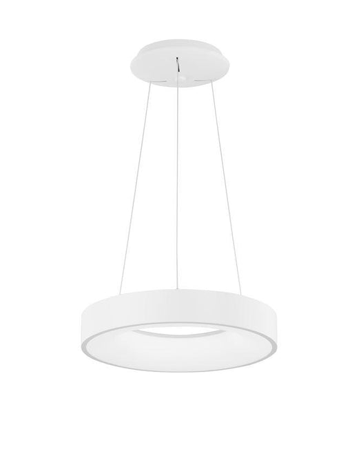 RAN Sandy White Aluminium & Acrylic Dimmable Warm Light Ring Pendant Small - ID 10423