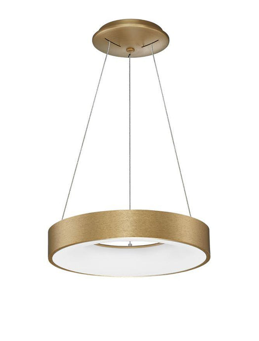 RAN Brushed Gold Aluminium & Acrylic Dimmable Warm Light Ring Pendant Small - ID 10424