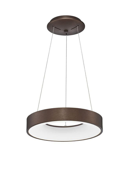 RAN Brushed Coffee Aluminium & Acrylic Dimmable Warm Light Ring Pendant Small - ID 10425