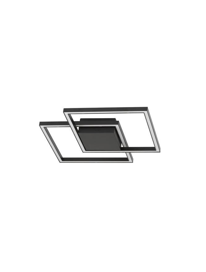 BIL Matt Black Aluminium & Acrylic Right Angle Small Ceiling Light - ID 10570