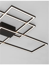 BIL Matt Black Aluminium & Acrylic Right Angle Large Ceiling Light - ID 10572