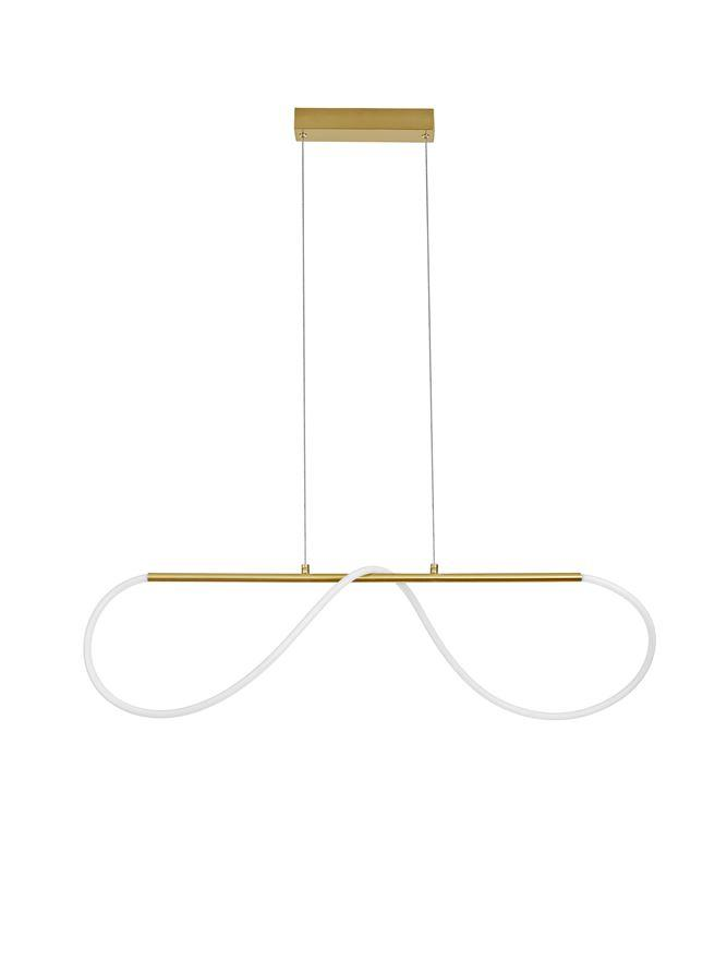 TIR Gold Aluminium & Acrylic Light Worm Linear Bar Pendant - ID 10096