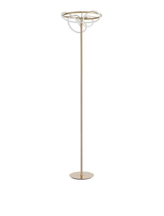 TIR Gold Aluminium & Acrylic Light Worm Floor Lamp - ID 10098