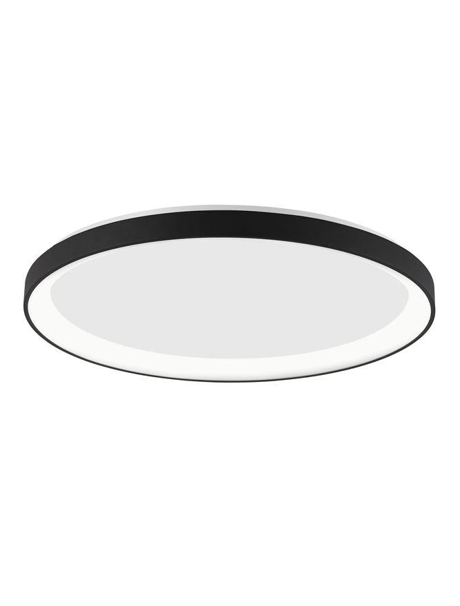PER Dimmable Sandy Black Aluminium & Acrylic Thin 38cm Ring Flush Small - ID 10605