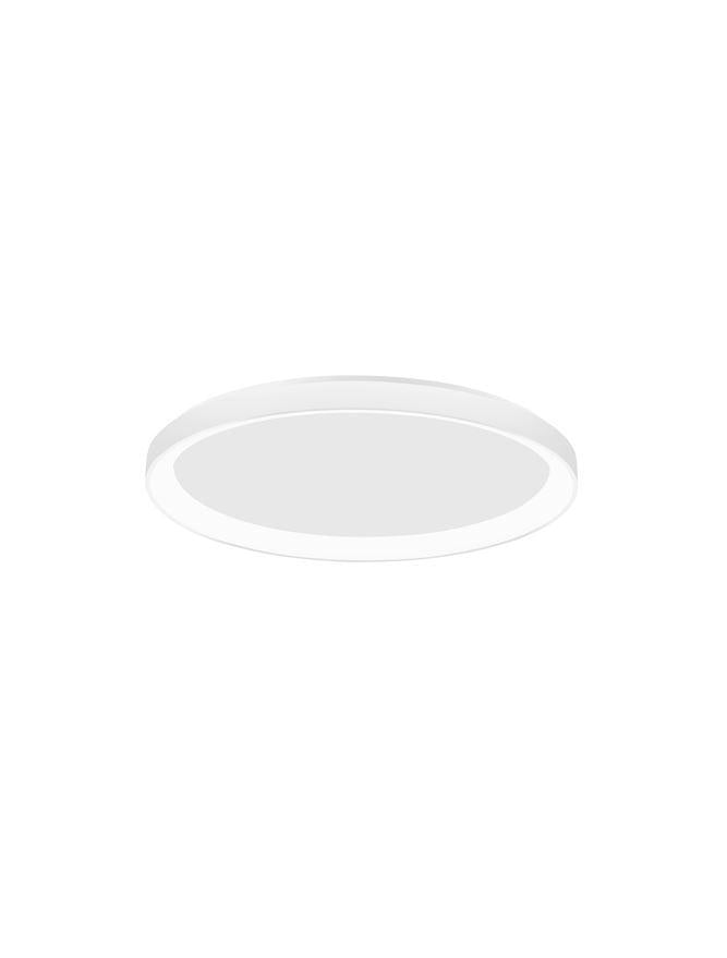 PER Dimmable Sandy White Aluminium & Acrylic Thin 48cm Ring Flush Medium - ID 10609