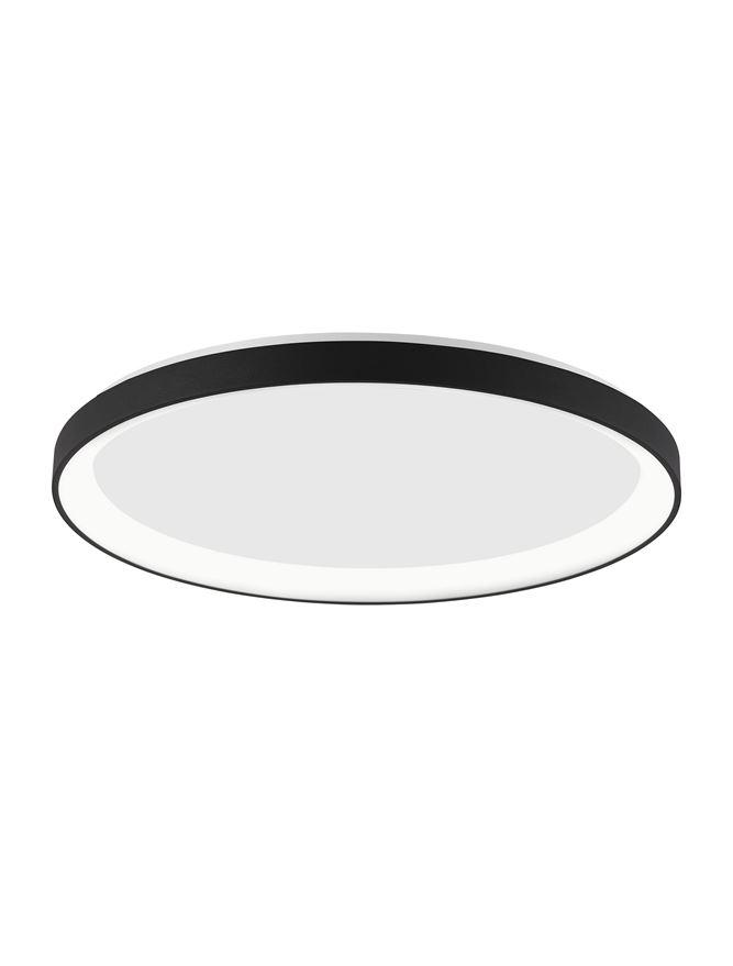 PER Dimmable Sandy Black Aluminium & Acrylic Thin 48cm Ring Flush Medium - ID 10606