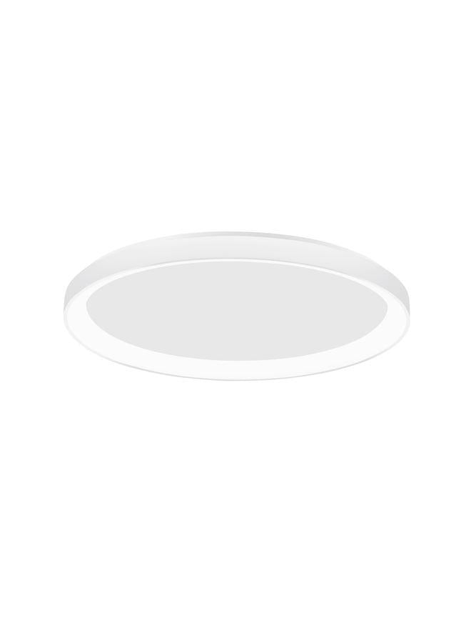 PER Dimmable Sandy White Aluminium & Acrylic Thin 58cm Ring Flush Medium - ID 10610