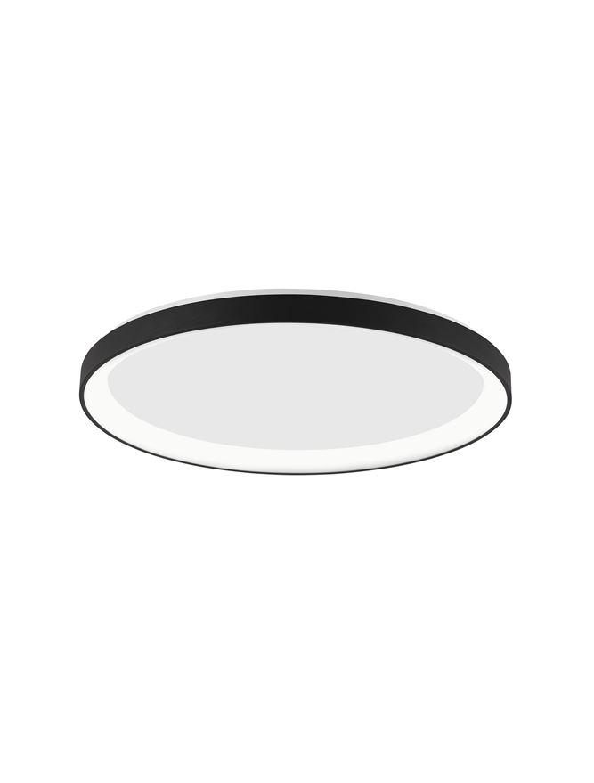 PER Dimmable Sandy Black Aluminium & Acrylic Thin 58cm Ring Flush Medium - ID 10607