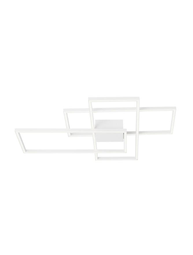 BIL White Aluminium & Acrylic Right Angle Large Ceiling Light - ID 10578